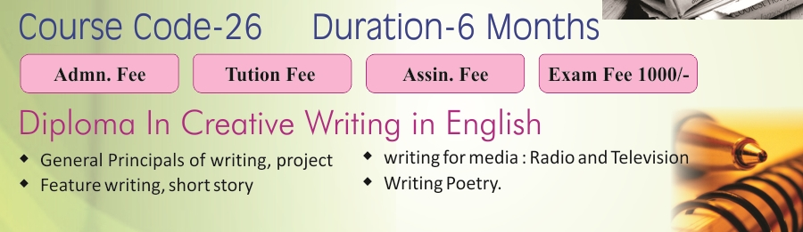 ignou creative writing in english course
