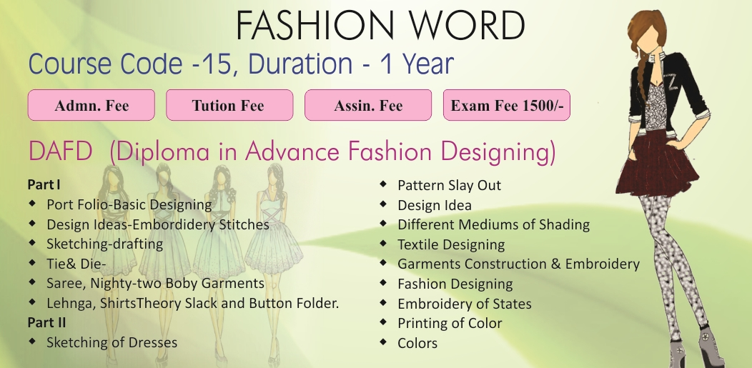 Welcome to maharishi dyanand educational society Fashion designing course subjects