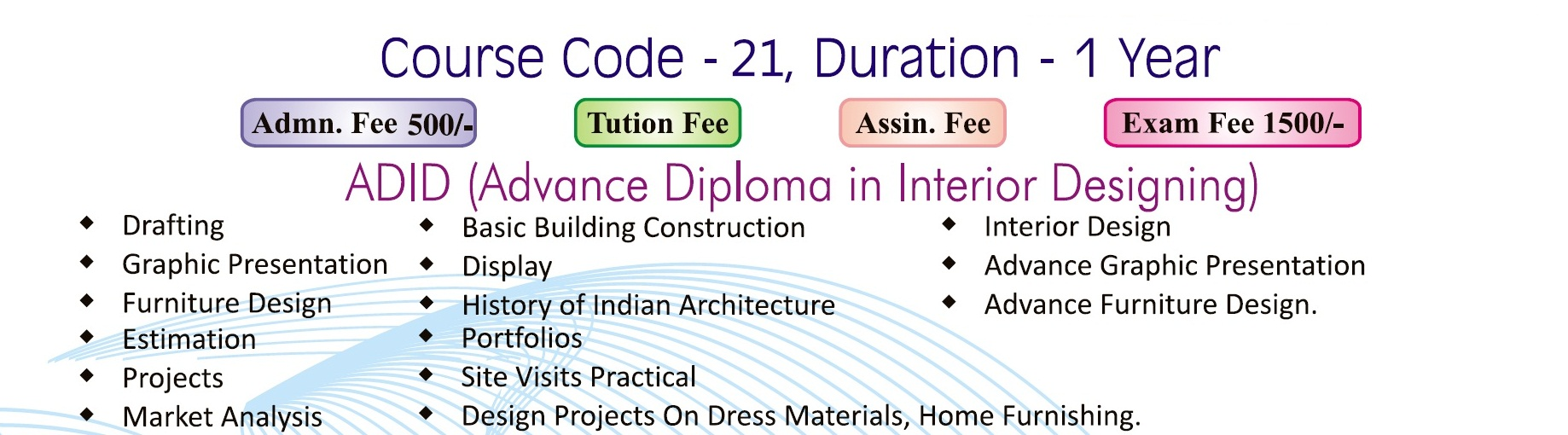 Welcome to maharishi dyanand educational society for Advanced diploma in interior designing delhi